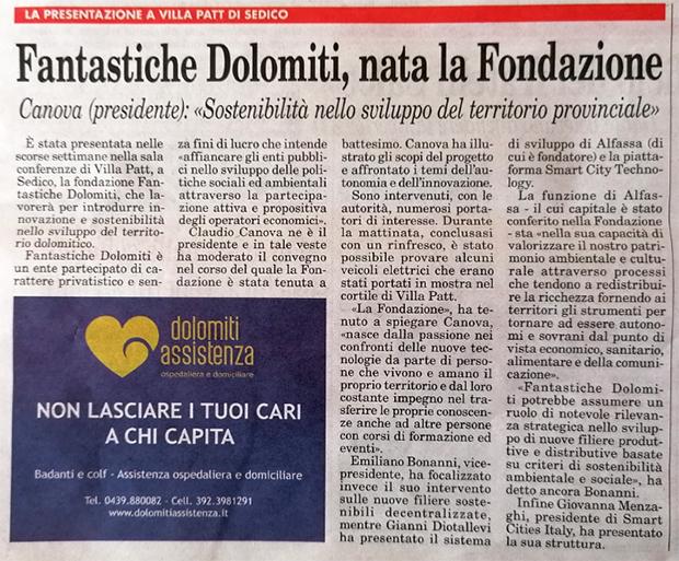 Amico del Popolo Fantastiche Dolomiti